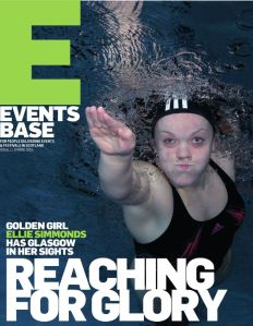 Cover of EventsBase magazine featuring Ellie Simmonds