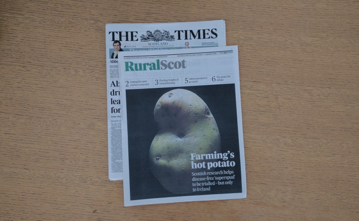Cover of September issue of ruralscot featuring a potato