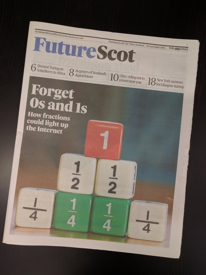 cover of futurescot september 2016 issue